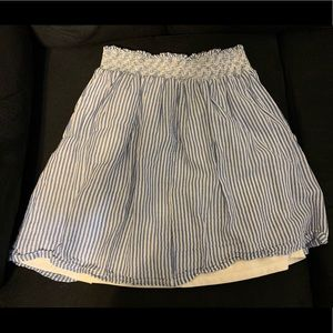 Old Navy Blue and White Striped Skirt